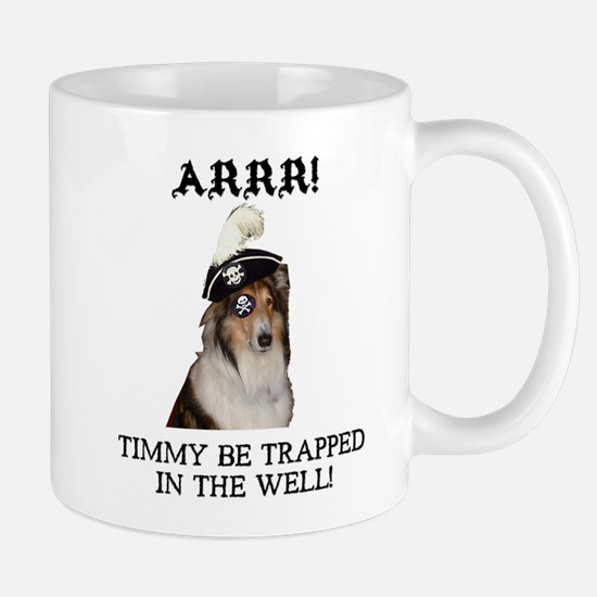 Pirate Collie Mug