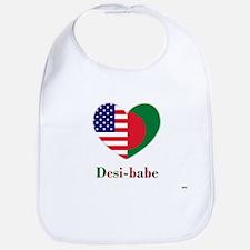 Bangladeshi-American Desi-babe Heart Bib