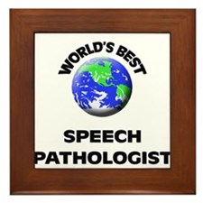 World's Best Speech Pathologist Framed Tile
