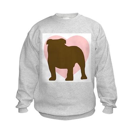 Bulldog Heart Kids Sweatshirt