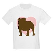 Bulldog Heart Kids T-Shirt