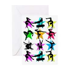 SUPER STAR GYMNAST Greeting Card