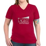 Lightworker (Lighthouse)   Women's V-Neck Dark T-S