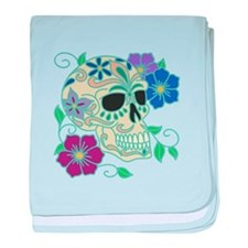 Day of the Dead Skull - Día d baby blanket