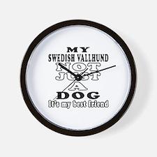 Swedish Vallhund not just a dog Wall Clock