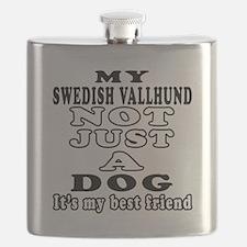 Swedish Vallhund not just a dog Flask