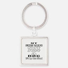 Swedish Vallhund not just a dog Square Keychain