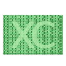XC Run Run Green Postcards (Package of 8)