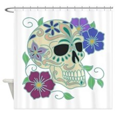 Sugar Skull Shower Curtain