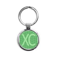 XC Run Run Green Round Keychain