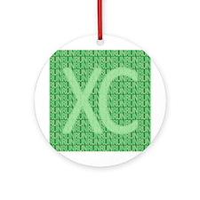 XC Run Run Green Ornament (Round)