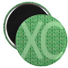 "XC Run Run Green 2.25"" Magnet (10 pack)"