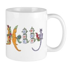 Hetty Mahjong Cats Roses Mug
