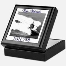 Uss Asheville ssn 758 Keepsake Box