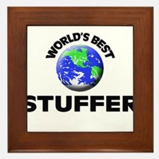 World's Best Stuffer Framed Tile