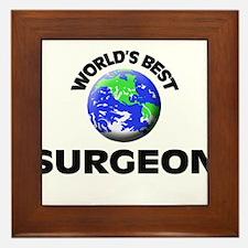 World's Best Surgeon Framed Tile