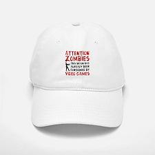 Attention Zombies Video Games Baseball Baseball Cap