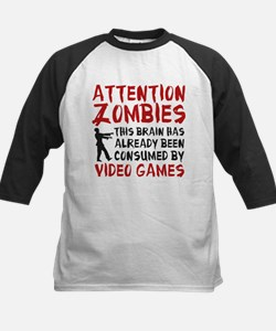 Attention Zombies Video Games Tee