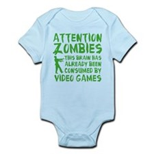 Attention Zombies Video Games Infant Bodysuit