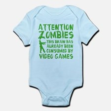 Attention Zombies Video Games Onesie