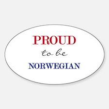Norwegian Pride Oval Decal