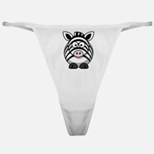 Cartoon Zebra Classic Thong