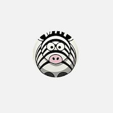 Cartoon Zebra Mini Button (10 pack)