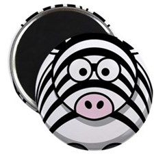 Cartoon Zebra Magnet