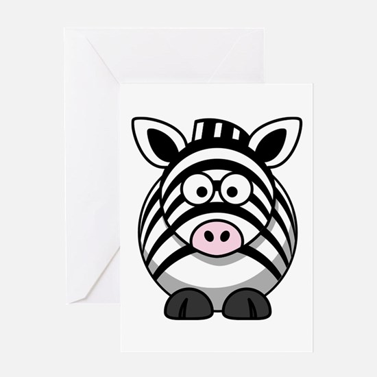 Cartoon Zebra Greeting Card