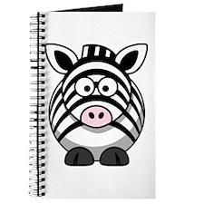 Cartoon Zebra Journal