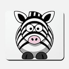 Cartoon Zebra Mousepad