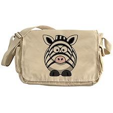 Cartoon Zebra Messenger Bag