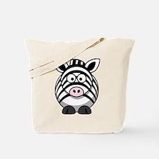 Cartoon Zebra Tote Bag
