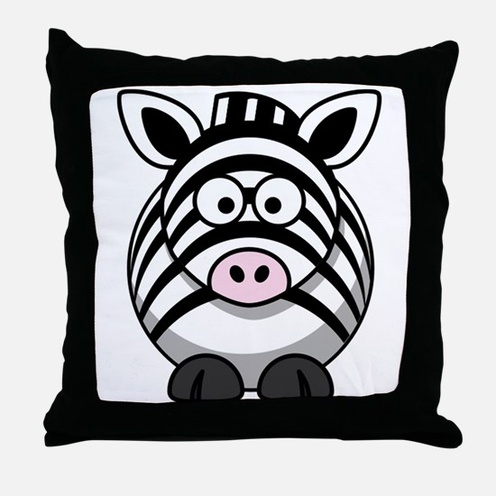 Cartoon Zebra Throw Pillow