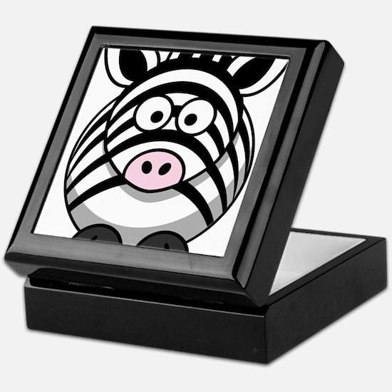 Cartoon Zebra Keepsake Box