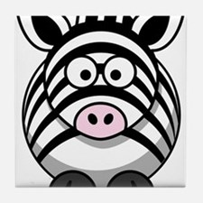 Cartoon Zebra Tile Coaster