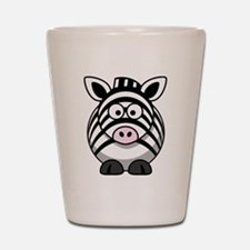 Cartoon Zebra Shot Glass