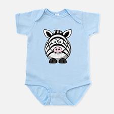 Cartoon Zebra Body Suit