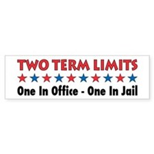 Two Terms Limits Bumper Bumper Sticker