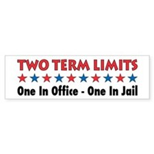 Two Terms Limits Bumper Car Sticker
