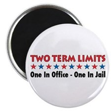 "Two Terms Limits 2.25"" Magnet (10 pack)"