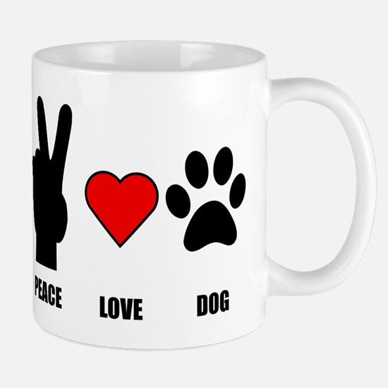 Peace Love Dog Small Mug