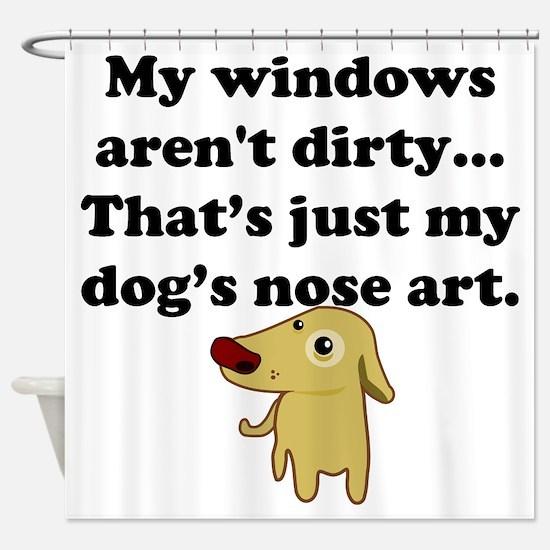 Dog Nose Art Shower Curtain