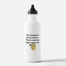 Dog Nose Art Sports Water Bottle