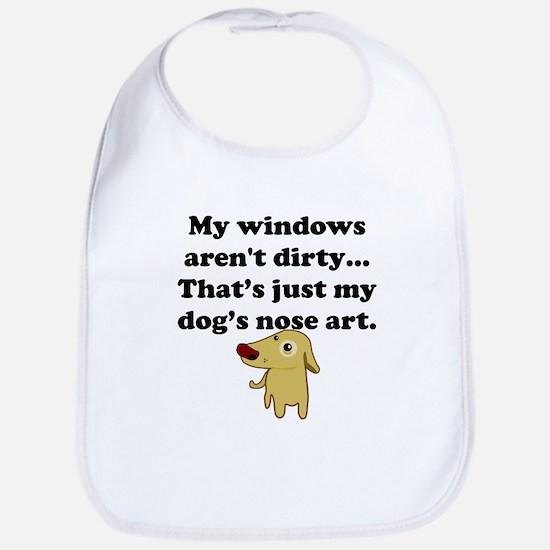 Dog Nose Art Bib
