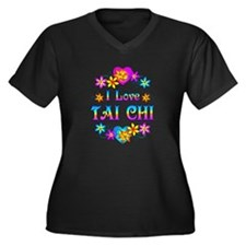I Love Tai Chi Women's Plus Size V-Neck Dark T-Shi