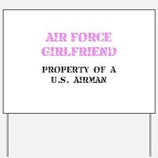 Air Force Girlfriend Yard Sign