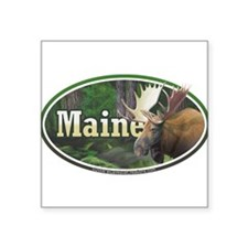 ME Maine Moose oval car bumper Sticker
