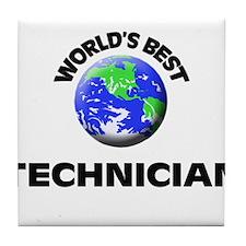 World's Best Technician Tile Coaster