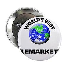 """World's Best Telemarketer 2.25"""" Button"""